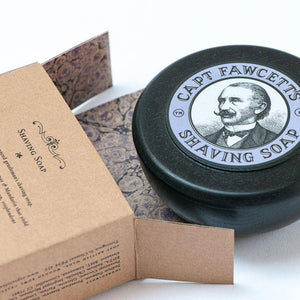 Captain Fawcett's Shave Soap with Wooden Bowl - Ozbarber