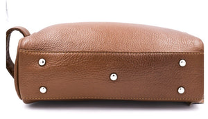 PARKER SADDLE BROWN LEATHER TOILETRY BAG - Ozbarber