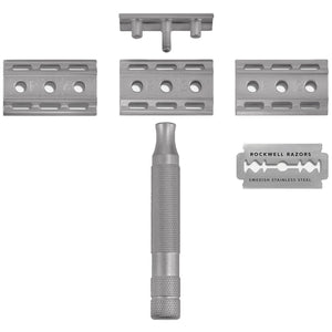 ROCKWELL 6S - ADJUSTABLE STAINLESS STEEL SAFETY RAZOR - Ozbarber