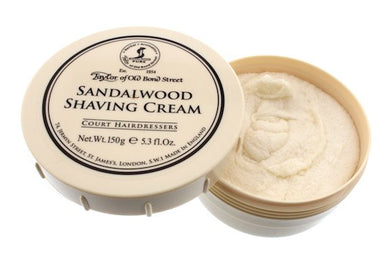 TAYLOR OF OLD BOND STREET SANDALWOOD SHAVING CREAM BOWL 150G - Ozbarber