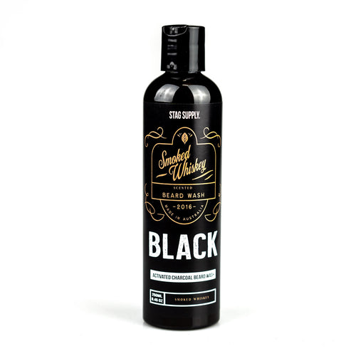 Stag Supply Smoked Whiskey Activated Charcoal Beard Wash 250ml