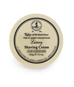 TAYLOR OF OLD BOND STREET ST JAMES COLLECTION SHAVING CREAM 150G - Ozbarber