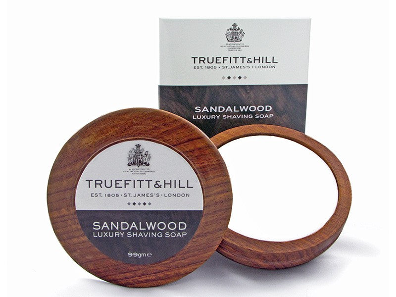 Truefitt & Hill Sandalwood Luxury Shaving soap in wooden bowl 99g - Ozbarber