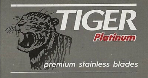 TIGER PLATINUM DOUBLE EDGE RAZOR BLADES (5)