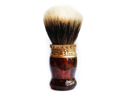 Saponificio Varesino SV 2.0 Shaving Brush Turtle Shell Imitation resin handle