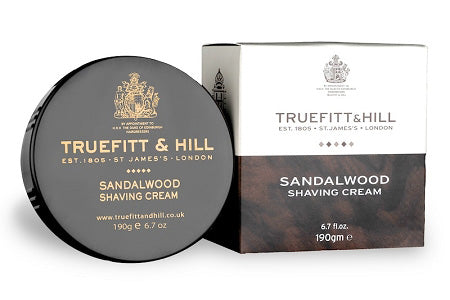 TRUEFITT & HILL SANDALWOOD SHAVING CREAM BOWL, 190G - Ozbarber