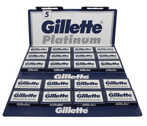 Gillette Platinum Double Edge Razor Blades (100)