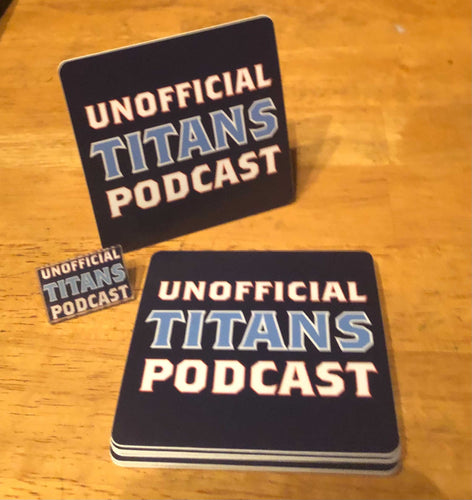 Unofficial Titans Podcast Sticker -AND- Acrylic Pin Package