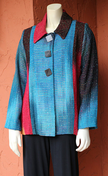 Ikat Bay Jacket - Pieced: Danube and Canyons