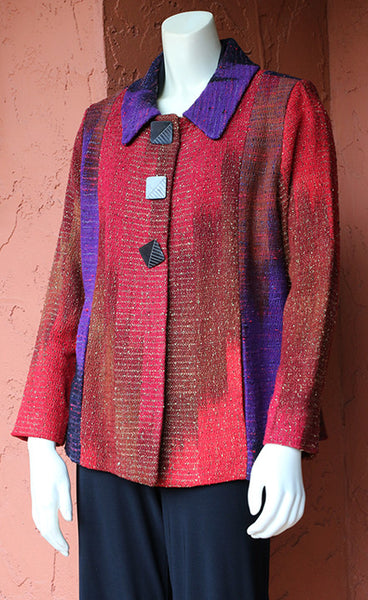 Ikat Bay Jacket - Pieced: Purple Canyons