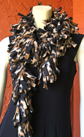 Polar Fleece Scarves - Cheetah
