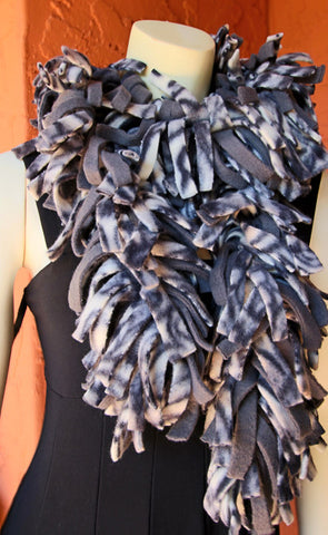 Polar Fleece Scarves - Gray Brindle