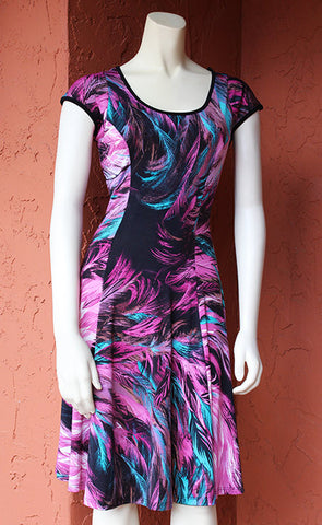 Keyhole Coach Dress: Pink Feather