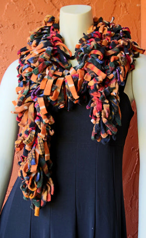Polar Fleece Scarves - Sunset