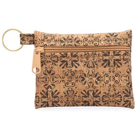 Be Organized Key Chain | All Printed Cork (All Mammoth Tile Print) - BumBoo Bamboo