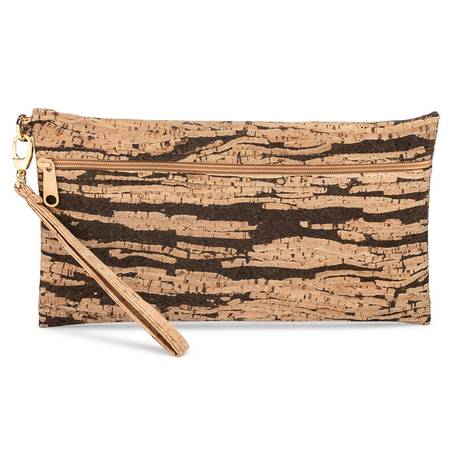 Be Ready Large Wristlet (Bark Cork) - BumBoo Bamboo
