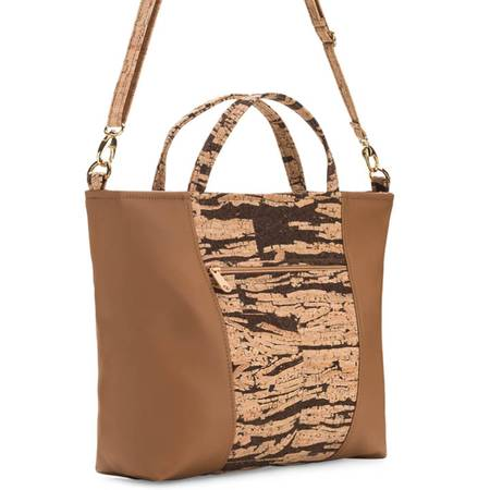 Be Versatile 2 Three-Strap Handbag | Bark Cork (Bark Cork) - BumBoo Bamboo