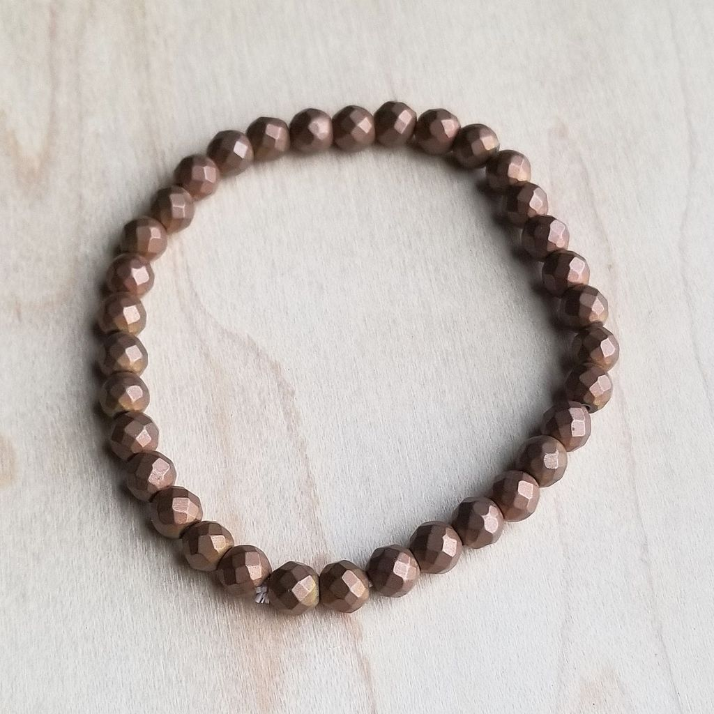 Bracelet Bar-Faceted Copper Pyrite - BumBoo Bamboo