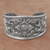 "Sterling Silver Repousse Cuff Bracelet from Indonesia, ""Courageous Soul"" - BumBoo Bamboo"