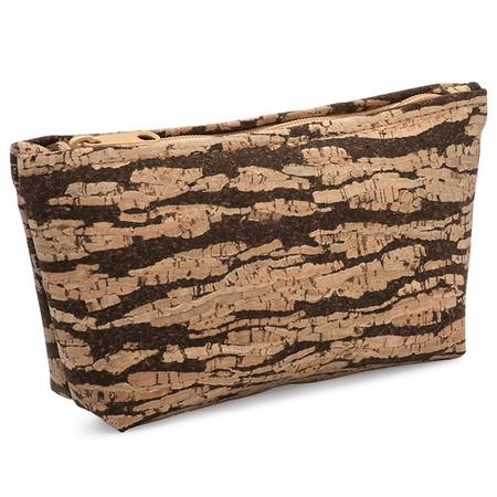 Small Zip Pouch (Bark Cork) - BumBoo Bamboo