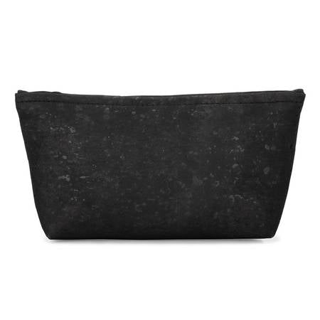 Small Zip Pouch (Black Cork) - BumBoo Bamboo