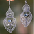 "Blue Topaz and Sterling Silver Dangle Earrings from Bali, ""Majapahit Glory"" - BumBoo Bamboo"