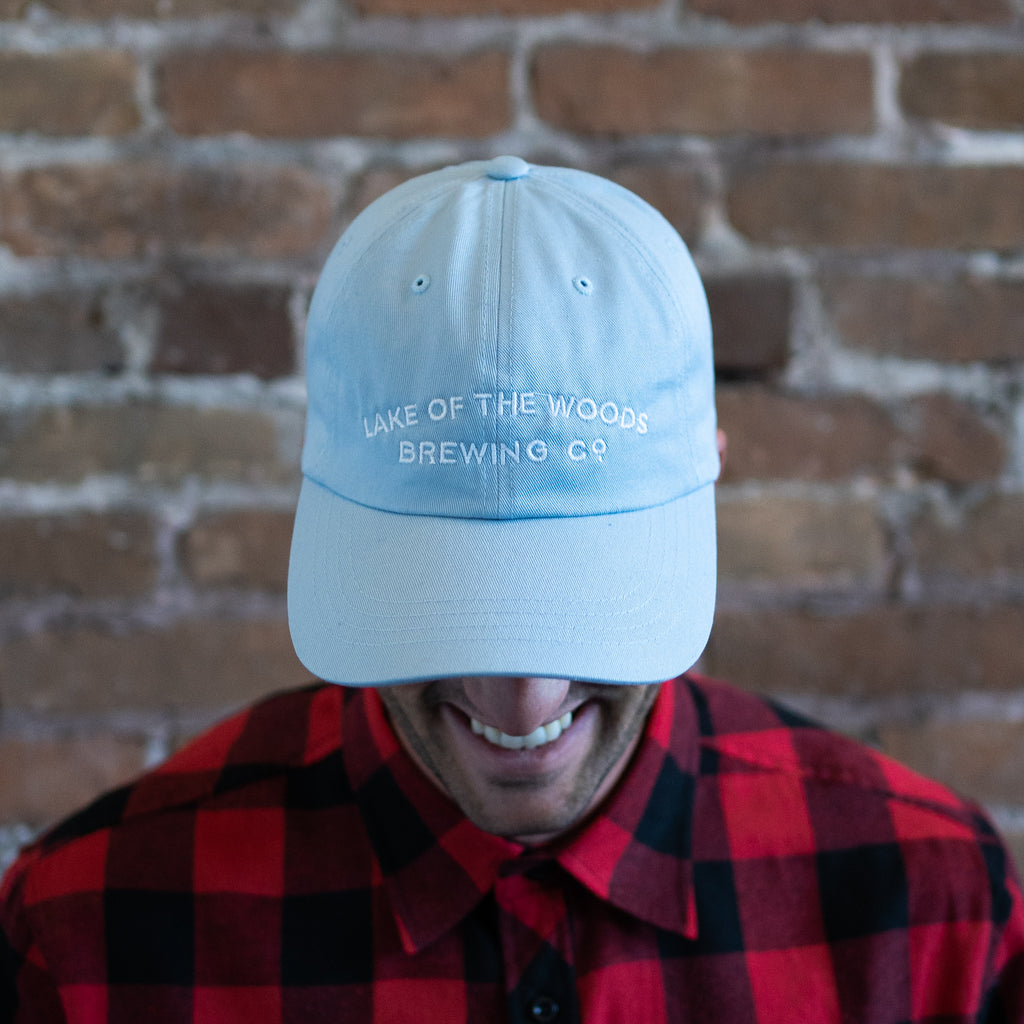 Light Blue Cotton Twill Dad Hat