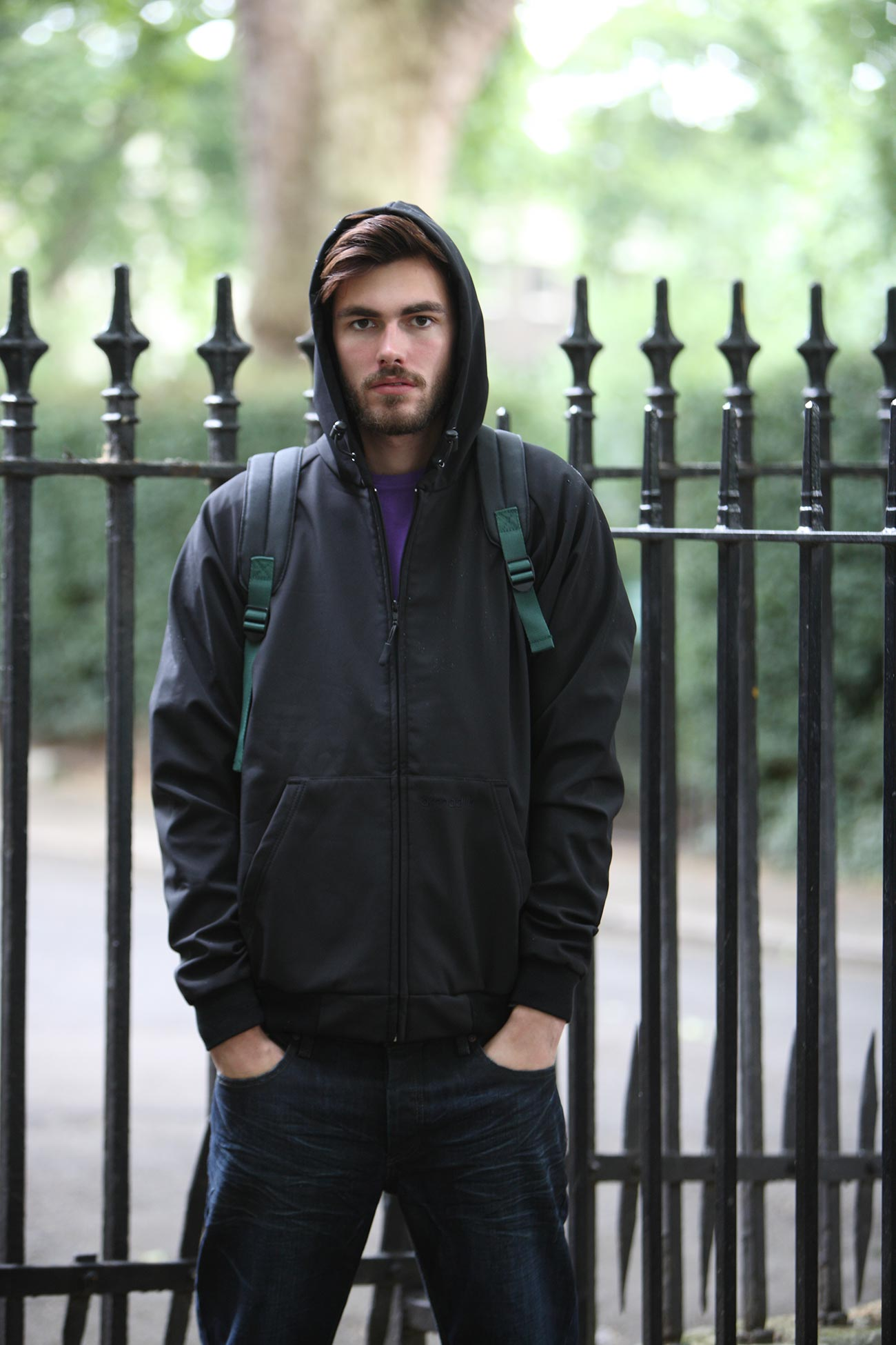 Hoody Unisex Windbreaker - Black
