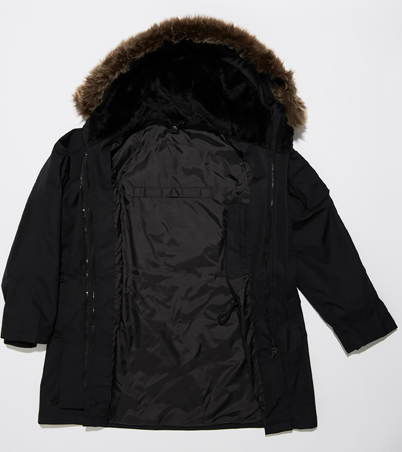 Steph Fur Women's Parka Jacket - Black
