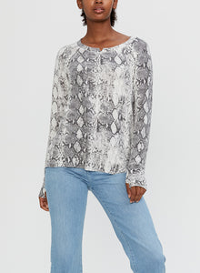 Micheal Stars Kim L/S Rio Knotch Knit Top