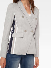 Load image into Gallery viewer, Ecru Blazer w/ Side Stripe Detail