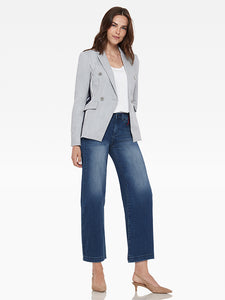 Ecru Blazer w/ Side Stripe Detail
