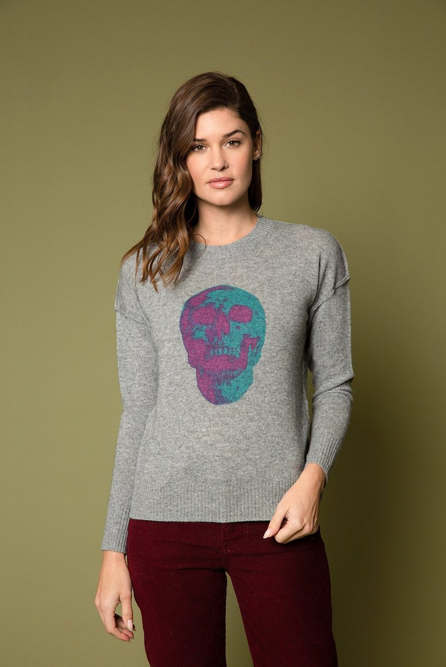 27 Miles Virginia Distressed Pullover with Skull Graphic