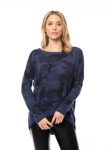 Acrobat high - low printed Camo Pullover