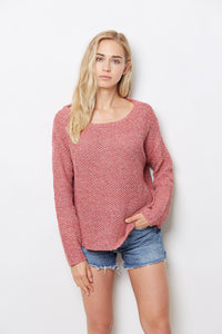 SWTR Marled Off Shoulder Knit