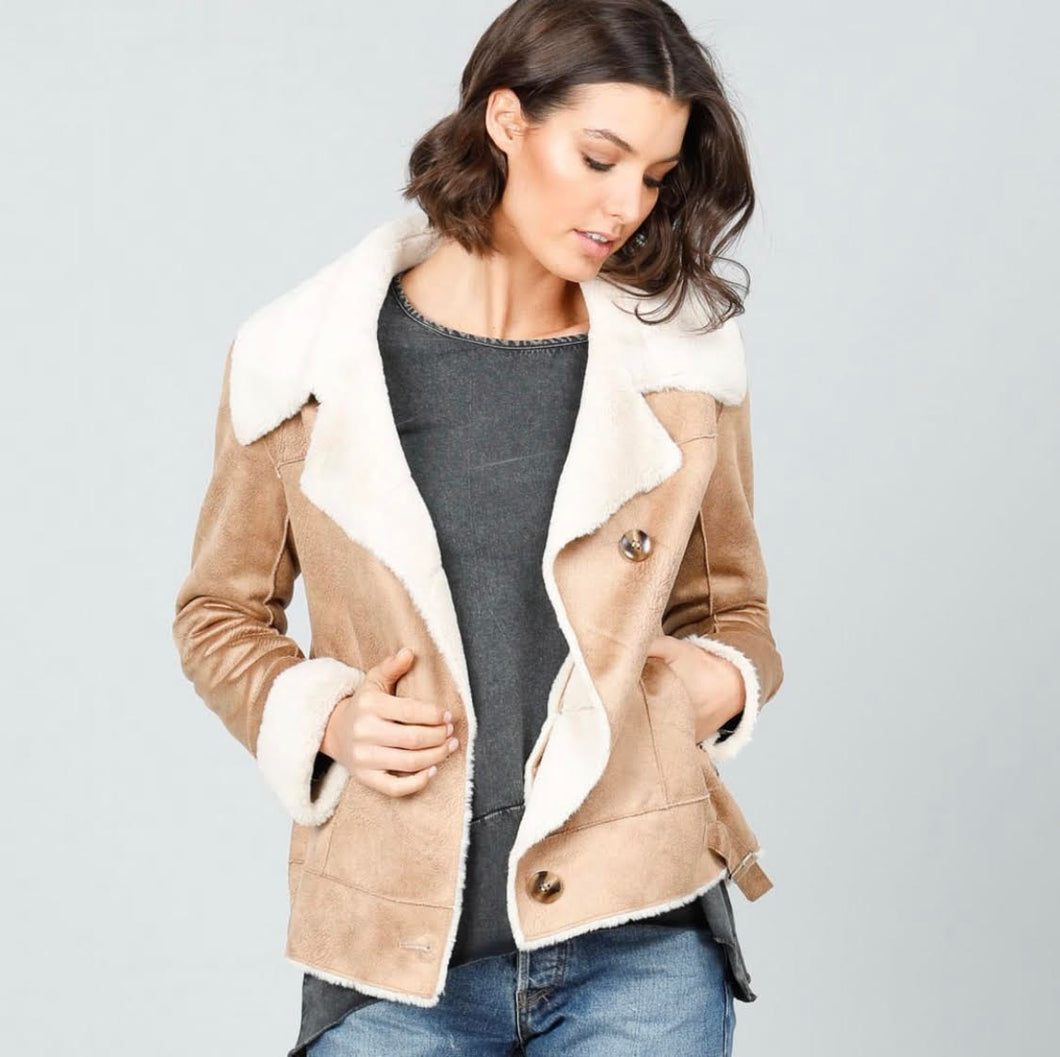 Brave and True Haywood Faux Sherling Jkt