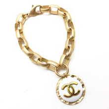 Load image into Gallery viewer, Shiver + Duke Chain Link CC bracelet - gold