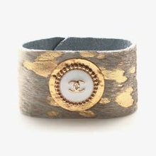 Load image into Gallery viewer, Shiver + Duke Designer Cowhide Cuff