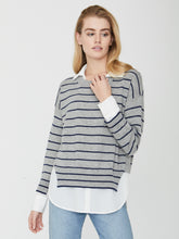 Load image into Gallery viewer, Brochu Walker Layered Stripe Crew-neck Sweater