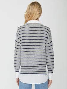 Brochu Walker Layered Stripe Crew-neck Sweater