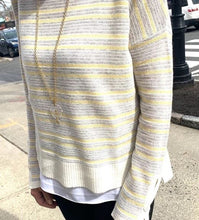 Load image into Gallery viewer, Charli Cyprus Stripe Long Sleeve Crew neck sweater