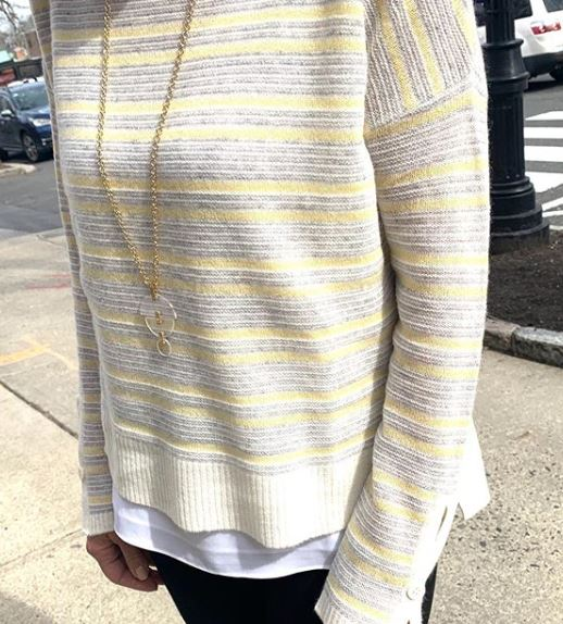 Charli Cyprus Stripe Long Sleeve Crew neck sweater