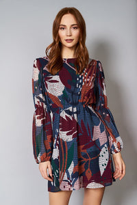Hutch Leaf Print L/S Dress