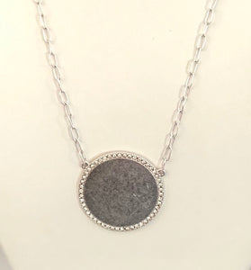 Rock Candy Crystal Rim Circle Necklace