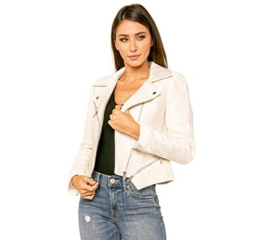 Love Token Ryder Quilted Moto Jacket