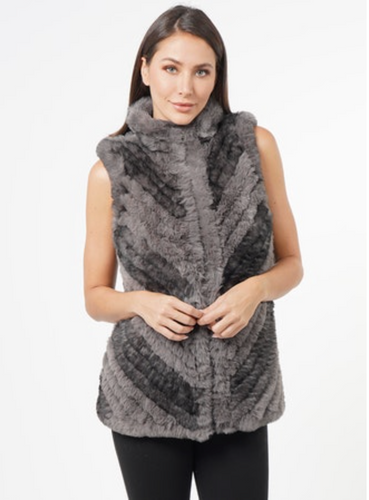 Love Token Sandra Bias Faux Fur Vest