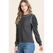 Load image into Gallery viewer, Maple S Long puff sleeve crew neck