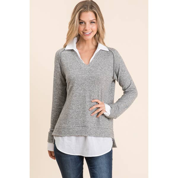 Maple S Double Layer Top w/ Collar