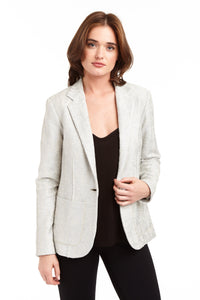 Drew Metallic Cotton 1 button blazer