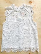 Load image into Gallery viewer, Generation Love White Lace Sleeveless Top